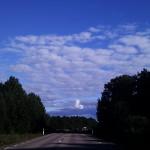 På väg! Men vad är det för mystiskt moln?