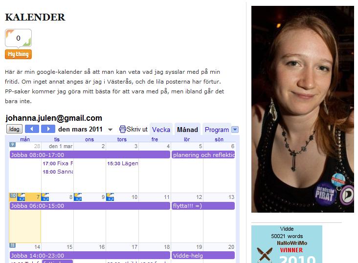 Kalender fungerar igen