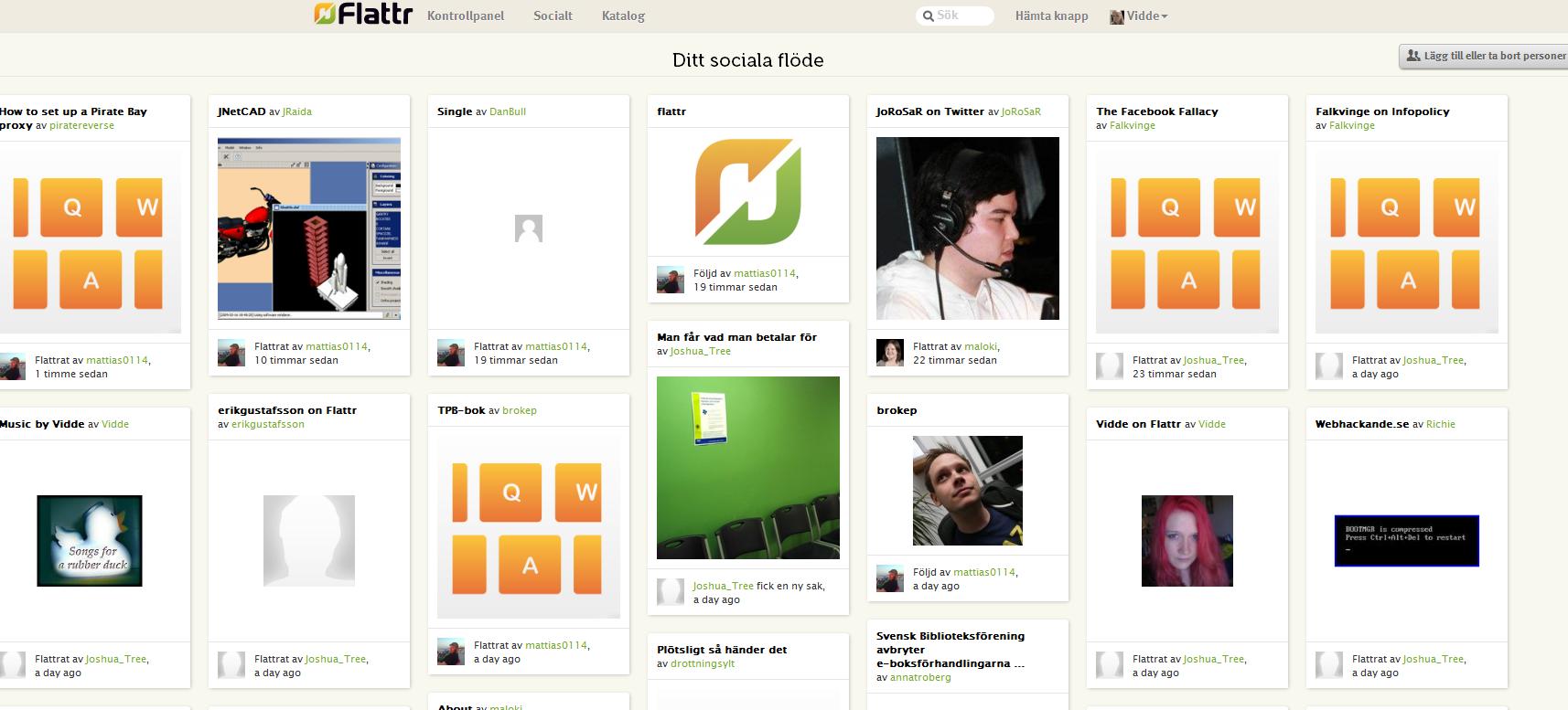 Har du sett den nya social-funktionen på Flattr?